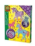 Toy - SES 06115 - Bügelperlenset Einhorn, dunkeln leuchtend