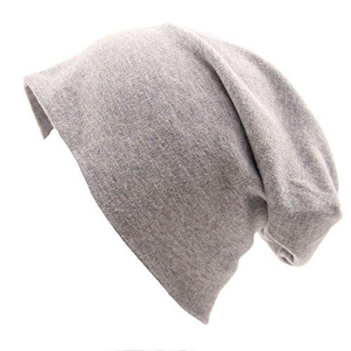 Kuyou Jersey Slouch Beanie Cappello, Berretti a Maglia Unisex (Grigio chiaro)
