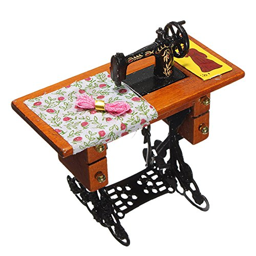 GogoForward Vintage Miniature Sewing Machine for 1/12 Scale Dollhouse (Horn Sewing Machine Cabinets compare prices)