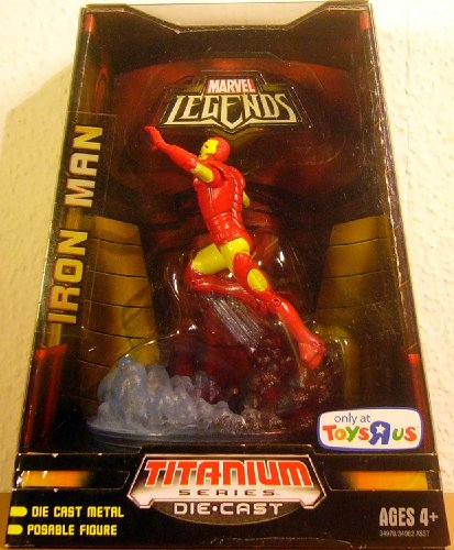 TITANIUM SERIES DIE CAST MARVEL LEGENDS - IRON MAN - 1