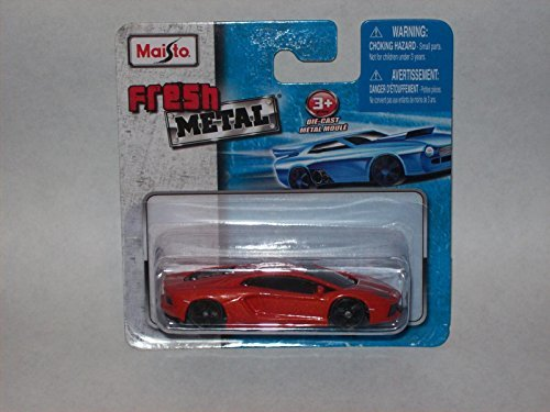 Maisto Fresh Metal Die-Cast Vehicles ~ Lamborghini Aventador (Red)