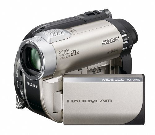 Sony DCRDVD150E Handycam Camcorder With Zoom (60x Optical, 2000x Digital)
