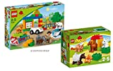 LEGO DUPLO Set - 6136 My First Zoo and 10522 farm animals - 9120063891146