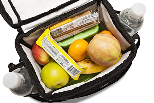 freddie and sebbie insulated cooler lunch bag for bento lunch box home garden kitchen dining. Black Bedroom Furniture Sets. Home Design Ideas