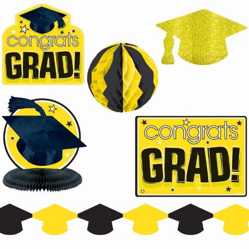 Yellow Graduation Decorating Kit per kit - 1