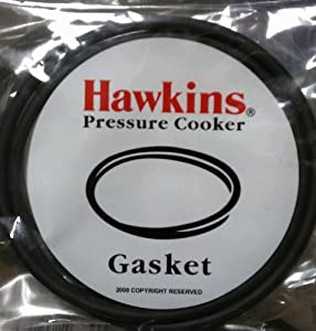 Hawkins B10-09 Gasket for 3.5 to 8-Liter Pressure Cooker Sealing Ring, Medium, Black from Gandhi - Appliances