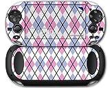 Sony PS Vita Skin Argyle Pink and Blue by WraptorSkinz