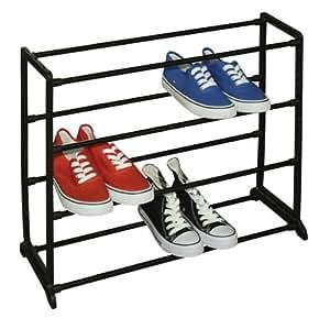 Amazon.com - 12-Par de zapatos Rack, Negro -