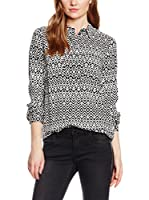 Tom Tailor Blusa (Negro / Blanco)