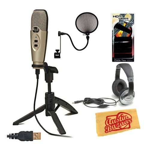 CAD U37 USB Studio Recording Microphone Bundle