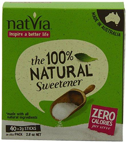 Natvia 100% Natural Sweetener (40 X 2G Sticks) - 4 Pack