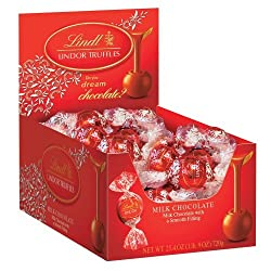 Lindt Lindor Truffles Milk Chocolate, 60-Count Boxes (Pack of 2)