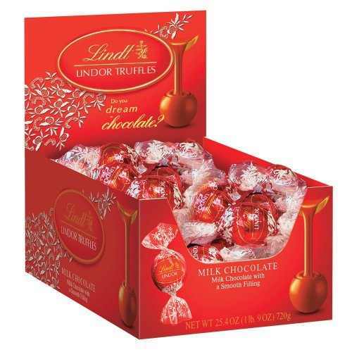 Lindt Lindor Truffles Milk Chocolate, 60-Count 