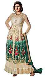Justkartit Women's Multi Colour Wedding Wear Gown (Anarkali Style) Embroidered Dress Material (New year Collection)