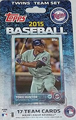 2015 Topps Minnesota Twins Factory Sealed Special Edition 17 Card Team Set with Joe Mauer Plus