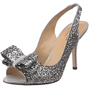 Kate Spade New York Women's Charm Sandal,Silver Glitter,6.5 M US