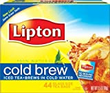 Lipton Black Tea, Cold Brew, Glass Size, Tea Bags, 44Count (Pack of 6)