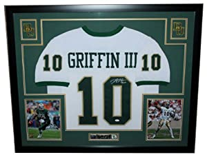 Robert Griffin RG III Autographed Signed and Framed White Baylor Jersey Auto JSA... by Premier+Sports+Collectibles