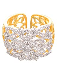 Creation Jewellery Gold Rodium Plated Gold Plated Clip-On Ring For Women - B00Z9UT9AS