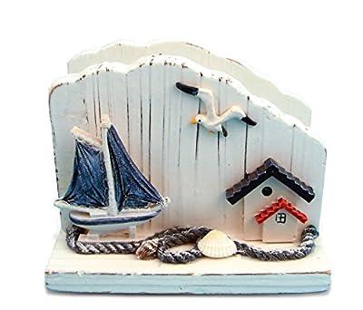 Puzzled Napkin Holder Wooden Handmade Nautical Decor