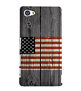 Country Flag on wooden background 3D Hard Polycarbonate Designer Back Case Cover for Sony Xperia Z5 Premium :: Sony Xperia Z5 Premium Dual