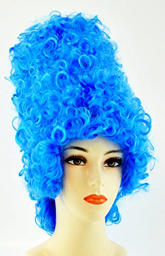 Marge Simpson Wig The Simpsons Marg Blue Beehive 1960's Womens Adult