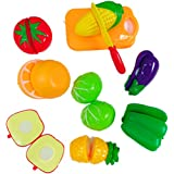 Blossom Fruits & Vegetables Realistic Sliceable Fruits And Vegetables Cutting Play Kitchen Set Toy (10 Pcs Set...