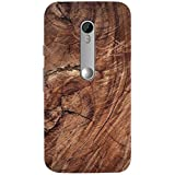 AMAN Brown Colour Wood 3D Back Cover For Motorola Moto G 3rd Gen