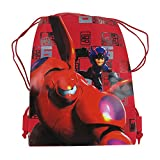 Officially Licensed Disney Drawstring Bag - Big Hero 6 Red