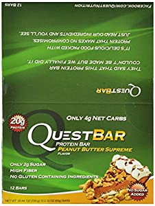 Quest Nutrition Protein Bars, Peanut Butter Supreme, Pack of 12- 25.44 oz