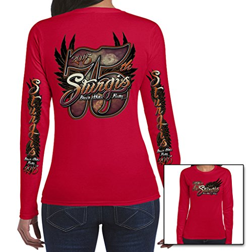 Biker Life USA Women's 2015 Sturgis Big 75th Long Sleeve Shirt