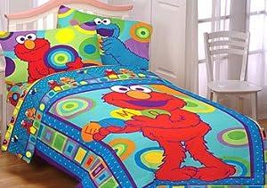 Amazon Com Sesame Street Elmo Cookie Monster Bedding