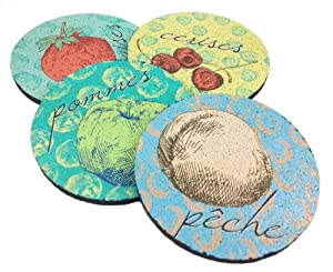 Flox 'Le Pop Fruit' Rubber Coasters