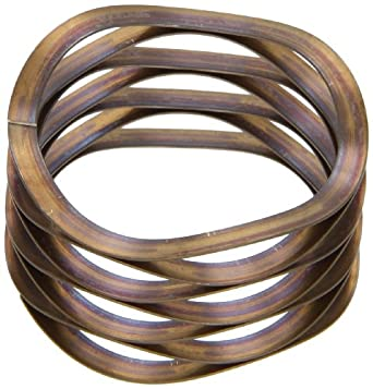 """Multiwave Washers, Stainless Steel, Inch, 0.25"""" ID, 0.375"""" OD, 0.008"""" Thick, 16lbs/in Spring Rate, 4lbs Load Capacity (Pack of 5)"""