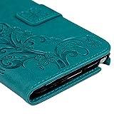 Maviss-Diary-Solide-Blau-Drunken-Glcksklee-Weinsttock-Ledercase-fr-Samsung-Galaxy-Note-3-Flipcase-Handytasche-Hllen-Schutzhlle-Scratch-Magnetverschluss-Telefon-Kasten-Handyhlle-Standfunktion-Handycove
