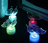 DE-Spark 10 Pack Acrylic LED Color Changing Night Lights Art Deco Lamps (Butterfly)