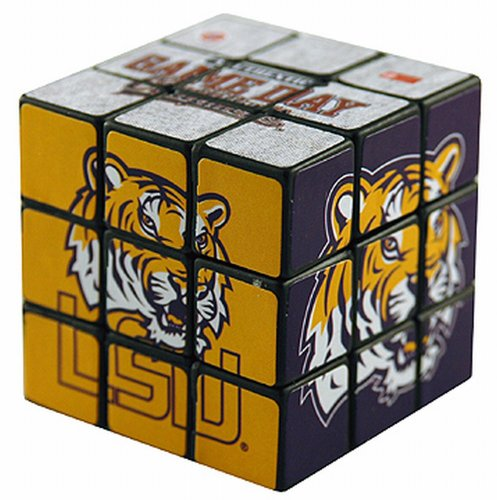 NCAA LSU Fightin Tigers Toy Puzzle Cube - 1