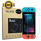 Tempered Glass Screen Protector for Nintendo Switch Anti Glare, Anti-Fingerprint, Bubble Free, Premium HD Clear Glass Film for Nintendo Switch Console Accessories by DOTONE (Color: screen protector)