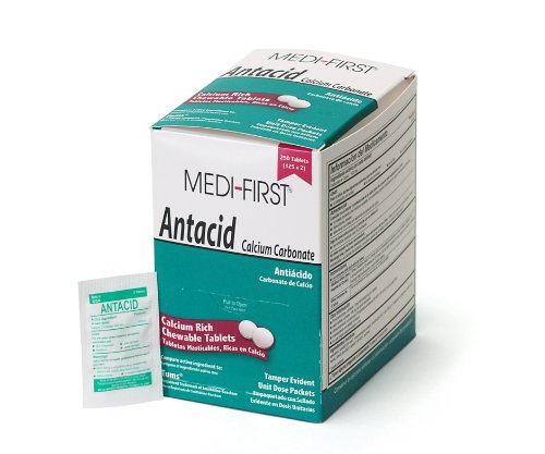 medi-first-80248-chewable-mint-antacid-tablets-250-tablets-125-packets-of-2