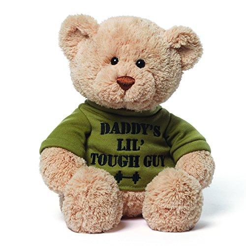 Gund 4048275 Daddy's Little Tough Guy Teddy Bear Stuffed Animal Plush