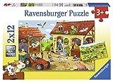 Ravensburger 07560 - Fleißig auf dem Bauernhof - 2 x