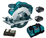 MAKITA 18V LXT BSS611 BSS611Z BSS611RFE CIRCULAR SAW, 2 x BL1830 BATTERIES, DC18RC CHARGER AND LXT400 BAG - PF TRADE