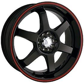 """Akita Racing AK-55 455 Black and Redring Wheel (18x7.5"""")"""