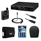 Sennheiser EW D1-ME2 Evolution Wireless D1 Digital Presenter System with ME2 Omnidirectional Clip-On Microphone Plus Wireless Microphone Accessory Kit