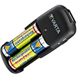 Varta Back-up Battery Charger Including 2 x AA Rechargeable Batteriesby Varta
