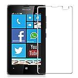 kwmobile 超強力保護ガラスディスプレイ Microsoft Lumia 435用 無色透明 - 保護ガラス 保護フィルム ディスプレイ保護