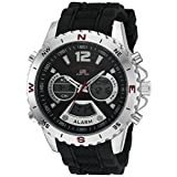 U.S. Polo Assn. Sport Men's Quartz Metal and Rubber Casual Watch, Color:Black (Model: US9550)