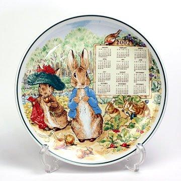 ウエッジウッド(Wedgwood) ピーターラビット 2002年カレンダープレート #wdw000622
