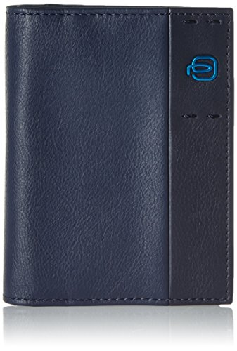 Piquadro Pulse Portafoglio, Pelle, Blu, 12 cm