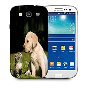 Snoogg Puppy And Kitty Printed Protective Phone Back Case Cover For Samsung S3 / S III